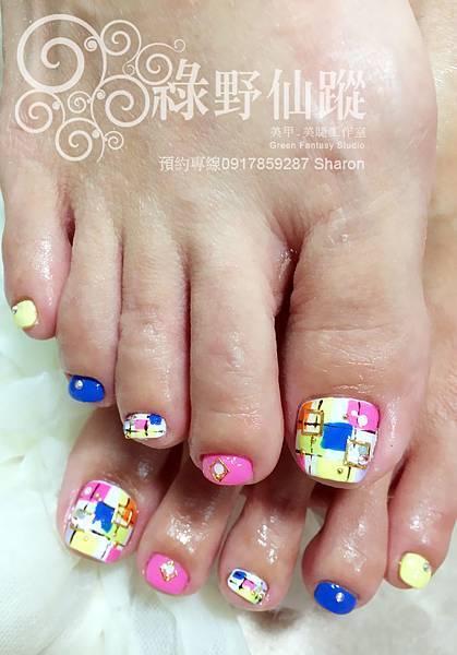 【足部光療指甲】2014春夏日本雜誌款光療指甲