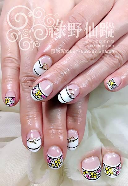 【光療指甲】日本雜誌手繪款光療指甲