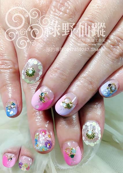 【光療指甲】清新棉花糖款漸層光療指甲