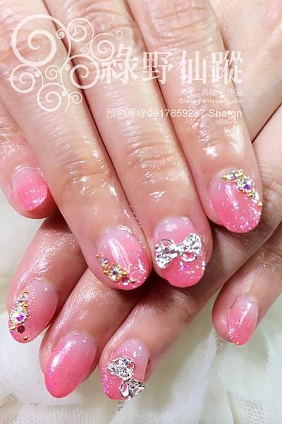 【光療指甲】新娘款粉嫩漸層光療指甲