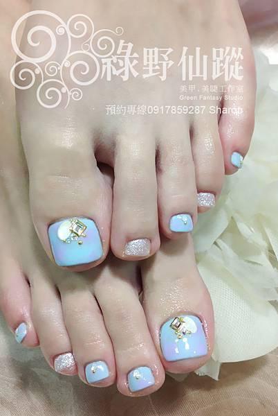 【足部光療指甲】暈染款款光療指甲