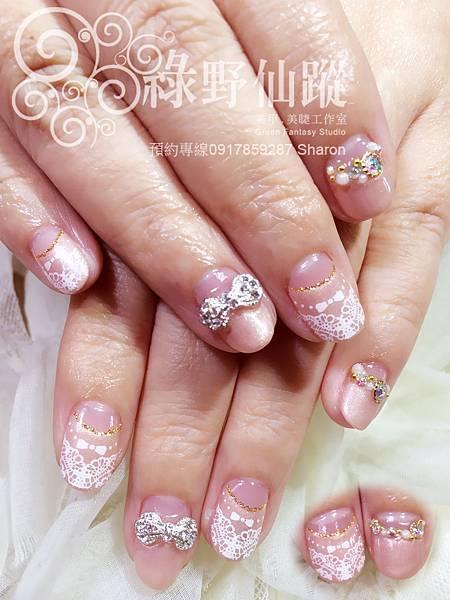 【光療指甲】雯雯婚紗照設計款光療指甲