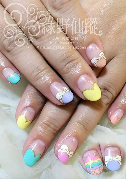 【光療指甲】氣質手繪設計款光療指甲