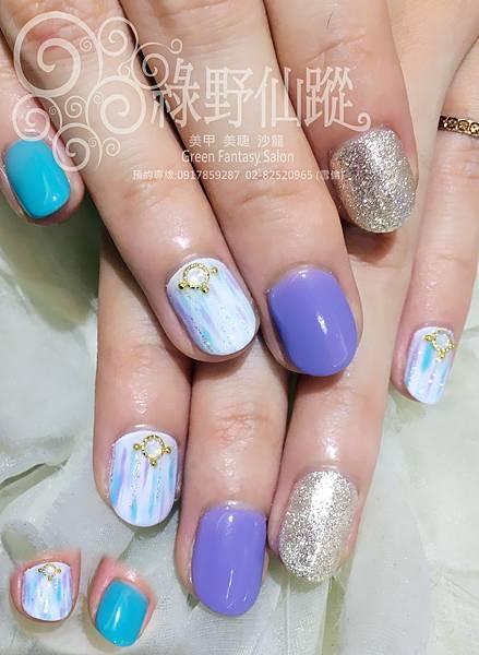 【光療指甲】涼夏設計款光療指甲