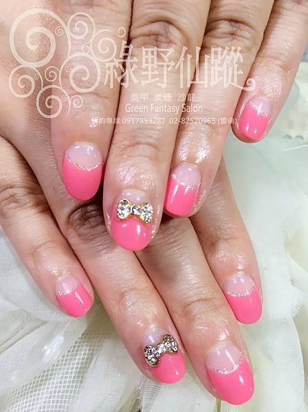 【光療指甲】優雅新娘婚紗拍照款光療指甲