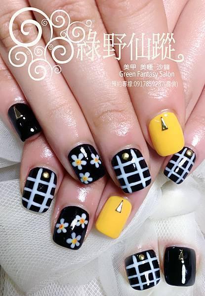 【光療指甲】手繪花花設計款光療指甲