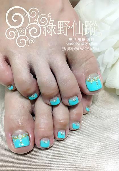 【足部光療指甲】反法式排鑽光療指甲