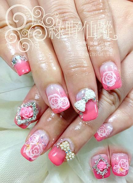 【光療指甲】十指延甲新娘設計款光療指甲