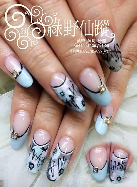 【光療指甲】純手繪雜誌款花朵光療指甲.jpg