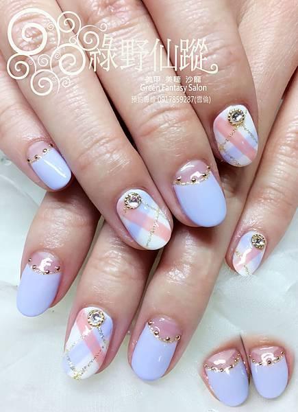 【光療指甲】俏皮新娘款光療指甲