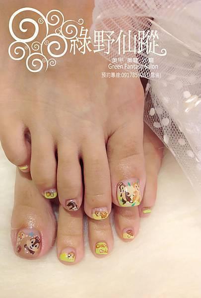 【光療指甲】奇奇蒂蒂設計款足部光療指甲.jpg