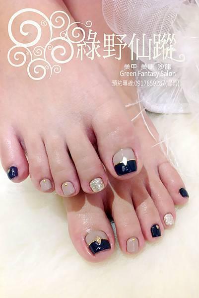 【光療指甲】雙色拼接跳色設計款足部光療指甲-2.jpg