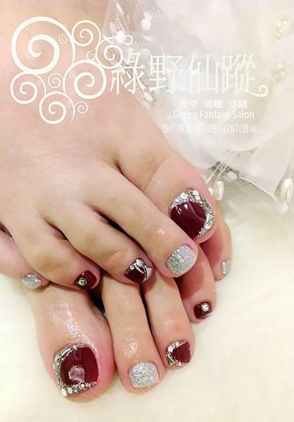 【光療指甲】斜邊法式奢華版足部光療指甲-3.jpg