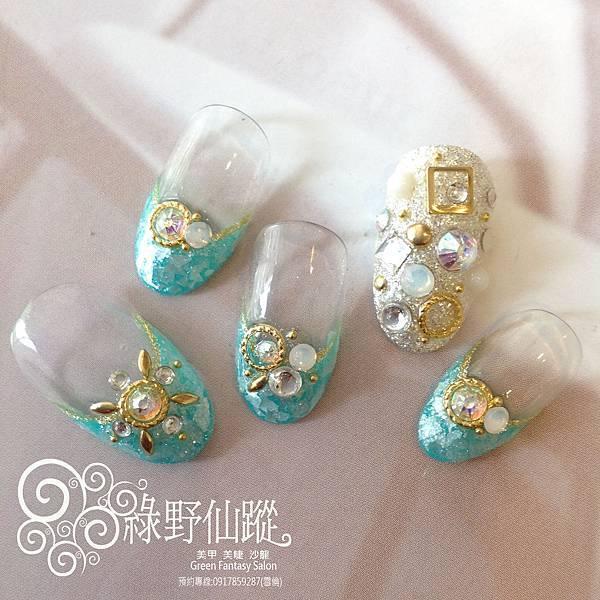 【光療指甲】104年9月優雅華麗設計師精選款光療美甲