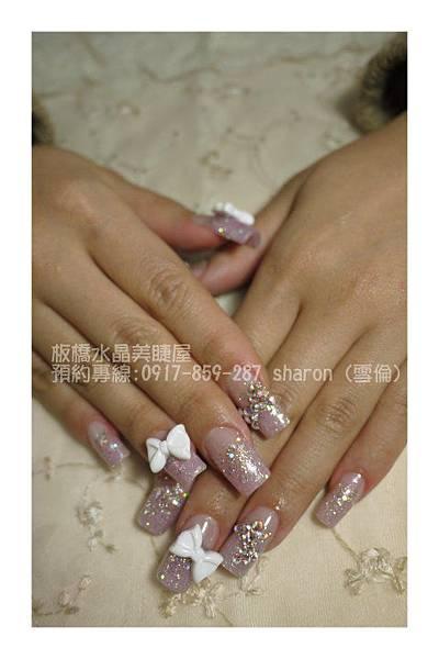新娘璀璨水晶指甲02