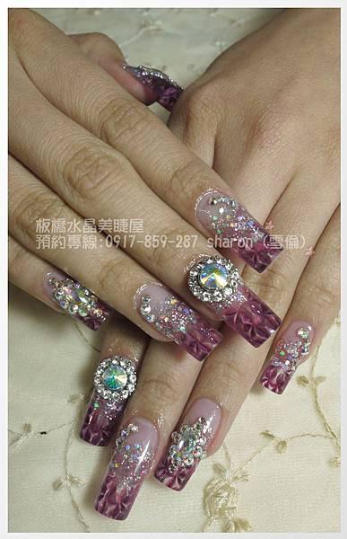 狸貓的華麗琉璃水晶指甲02