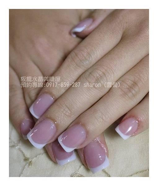 【水晶指甲】Amy姐的延甲法式水晶指甲