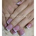 Amy姐的延甲法式水晶指甲01