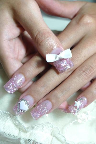 【水晶指甲】貝殼夾心水晶