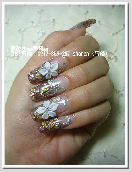 【水晶指甲】流金歲月貝殼夾心水晶.jpg