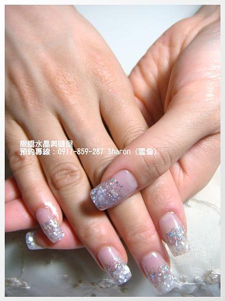 【水晶指甲】201009新娘貝殼夾心