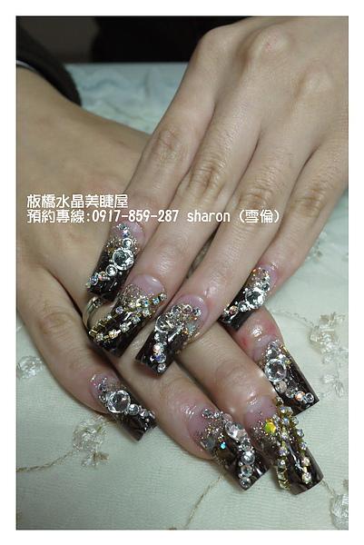 【水晶指甲】茶色琉璃水晶指甲