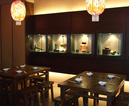 古色古香博物館的餐廳