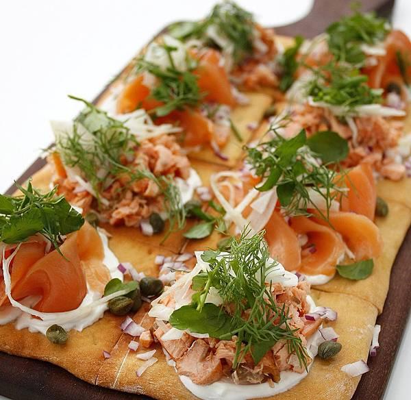 Two Ways Salmon Flatbread