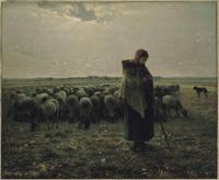 米勒的田園之美~牧羊女與羊群
