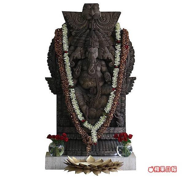印度教的神址非常多,象神甘涅許(Ganesh)是相當常見且受印度人喜愛的神。2016 蘋果日報/楊沛騏。世群旅行社