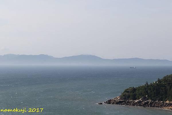 對面是黃岐半島嗎?滿滿的風機
