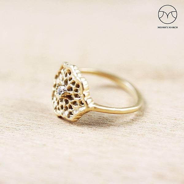 蕾絲銅花戒指