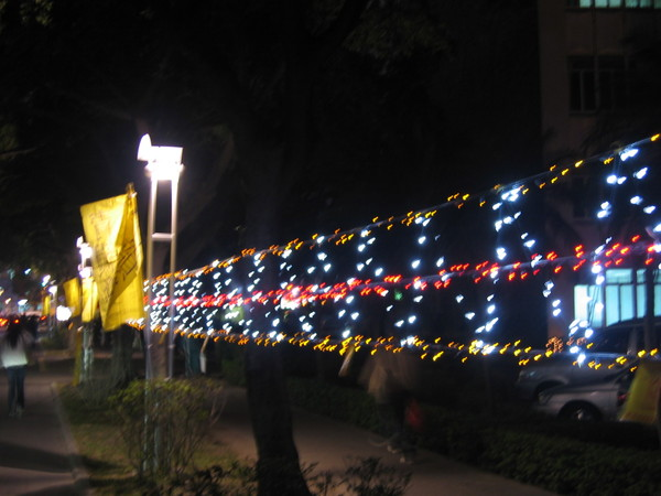 外語學院理工學院前面的燈飾