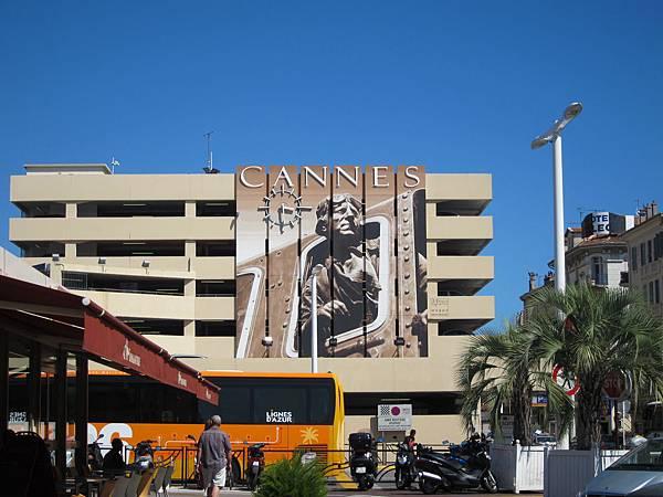 火車站出來就會看到的標誌@ Cannes 坎城 France