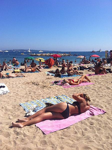有名的會有上空女郎的沙灘 @ Cannes 坎城 France