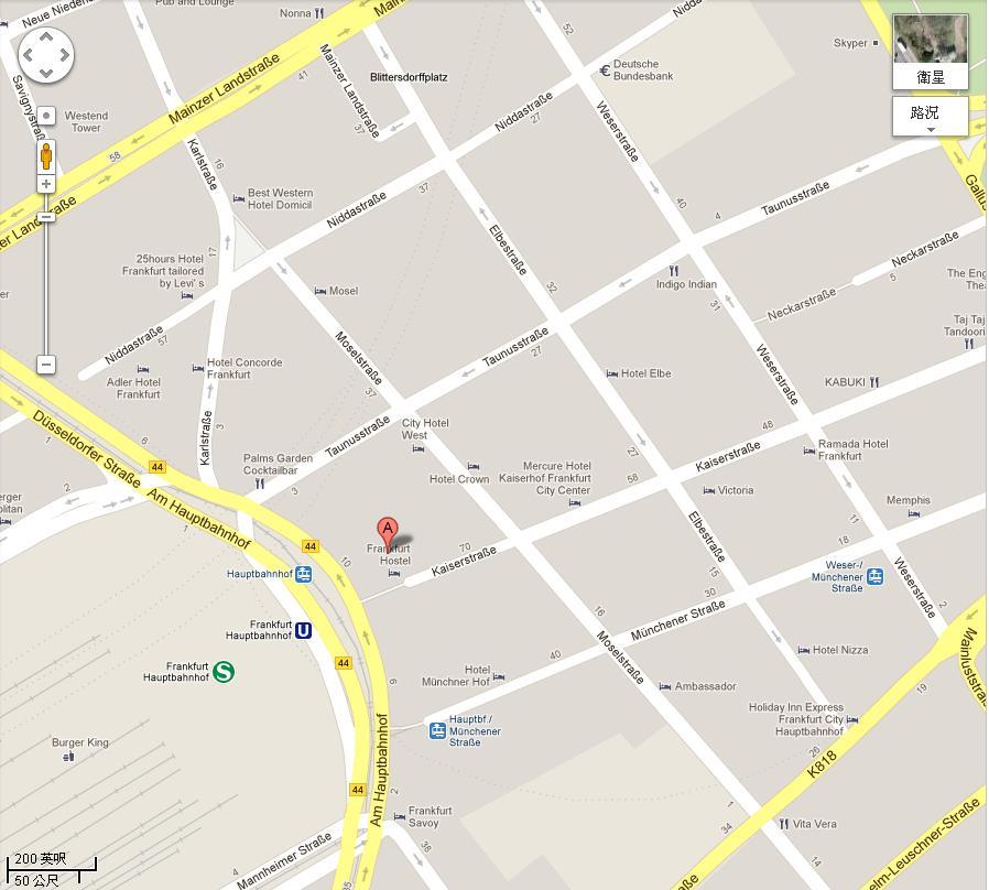 hostel地圖