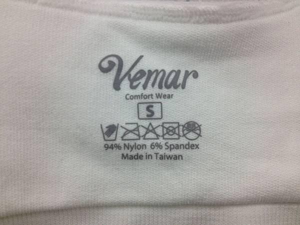 Vemar  零著感內衣 made in Taiwan