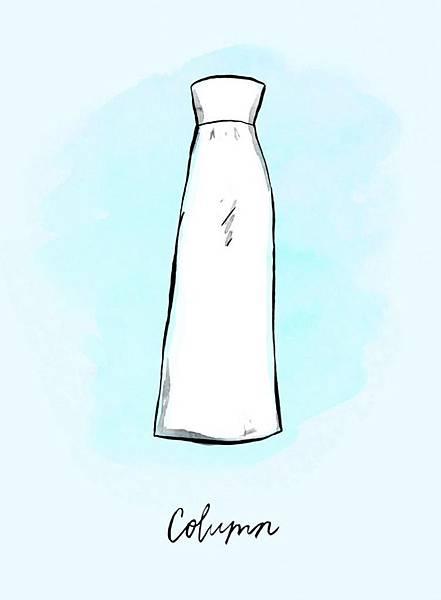 禮服-圓柱裙禮服(Column)