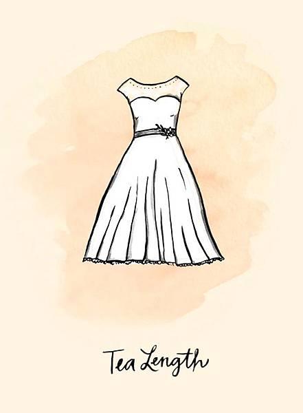 禮服-中長裙禮服(Tea Length)