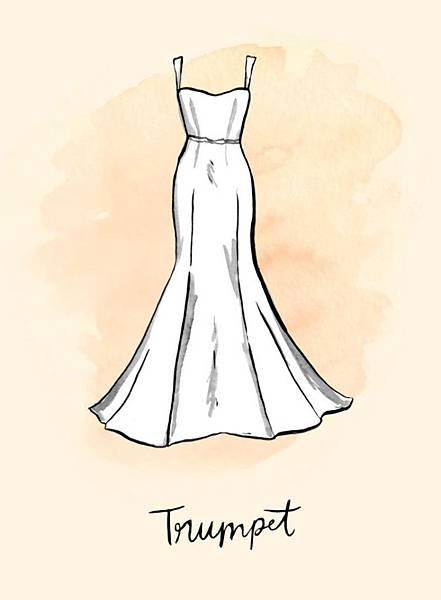 禮服-喇叭裙禮服(Trumpet)