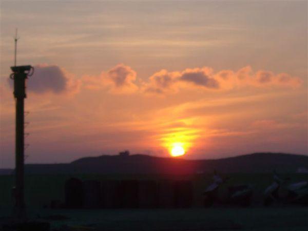 美美的夕陽耶~~~