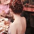 韓風新娘髮型.水鑽髮箍.盤髮造型