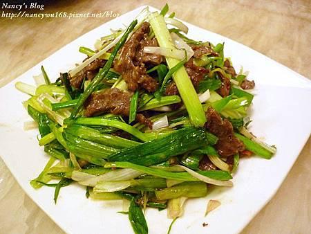 蒜苗炒牛肉-1