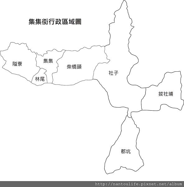集集街行政圖