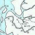 乾隆時期倒風內海圖,內海已有陸浮現象。
