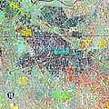 衛星照片上大多闢成魚塭的倒風內海浮覆區地勢低潌,成深黑色,內海範圍依稀可見。