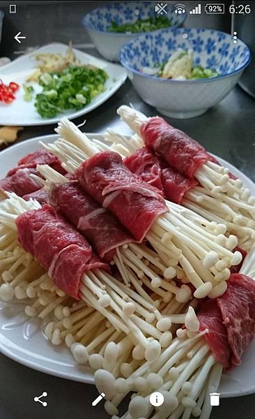 味增牛肉金針菇捲