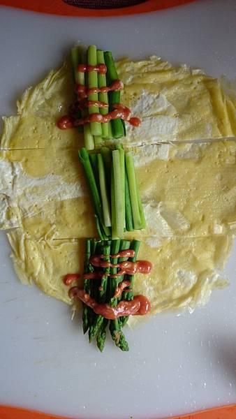 蘆筍卷沙拉