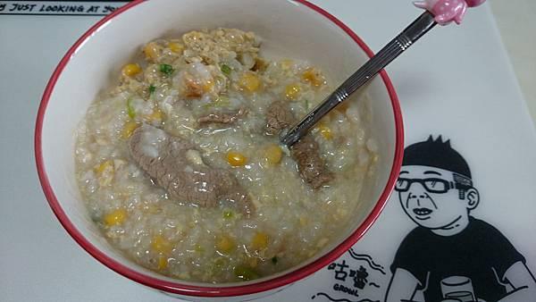 玉米牛肉粥