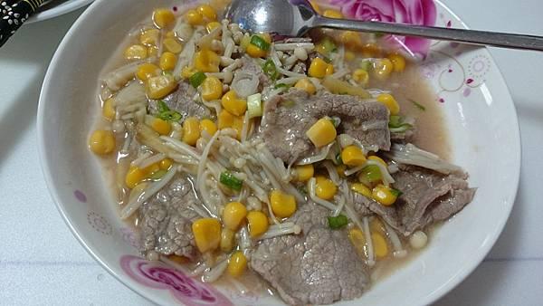 金針菇玉米燴牛肉